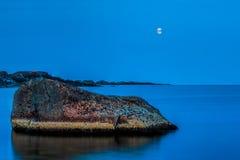Blask księżyca przy Moelen Zdjęcie Royalty Free