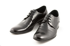 Blask men's shoes Stock Photo