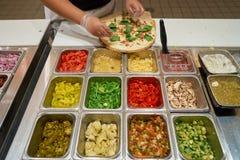 Blask pizza Fotografia Stock
