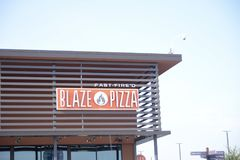 Blask pizza, Fort Worth, Teksas obrazy royalty free