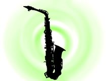 Blask saksofone Royalty Free Stock Image