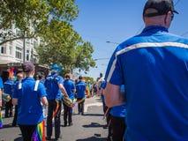 Blaskapelle im Jahre 2017 homosexuelles Pride March Lizenzfreie Stockfotografie