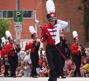 Blaskapelle in K-Tagesparade 2013 Edmontons s Lizenzfreie Stockfotos