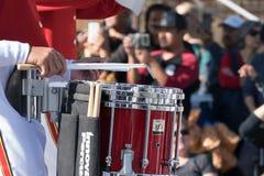 Blaskapelle-Schlagzeugerabschluß oben Lizenzfreie Stockbilder