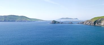 Blasket Islands and Dunmore Head Stock Image
