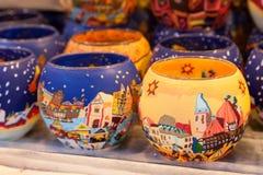 Blaski świecy na boże narodzenie rynku zdjęcia stock