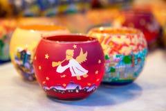 Blaski świecy na boże narodzenie rynku zdjęcia royalty free