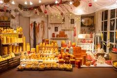 Blaski świecy na boże narodzenie rynku fotografia royalty free