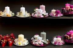 Blaski świecy na boże narodzenie rynku obraz royalty free
