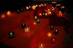 Blaski świecy w kościół obraz stock