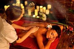 Blasku świecy masaż fotografia royalty free
