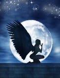 Blasku księżyca anioł Zdjęcie Royalty Free
