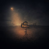 Blasku księżyca dom Fotografia Stock
