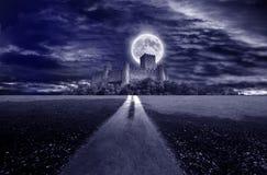Blasku księżyca kasztel Fotografia Stock