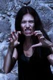 blasku księżyca portreta wampir Zdjęcie Stock
