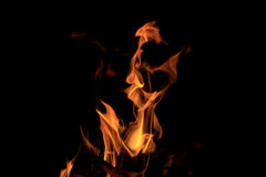 Blasku ogienia płomienia tekstura obraz stock