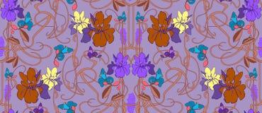 Blasse Pastellhand gezeichnetes nahtloses Muster des Vektors vektor abbildung