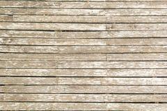 Blasser hölzerner Plankenboden Stockfotos