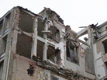 Blast. House debris following blast bombing and demolition royalty free stock image