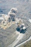 Blast. In open cast mining quarry stock image