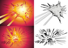 Blast. Vector variants of the blast in style comics Royalty Free Stock Image
