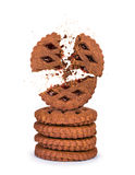 Blast the biscuits in a stack on an Royalty Free Stock Images