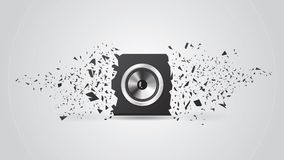 Blast Black Loud Speaker. Background Stock Photography