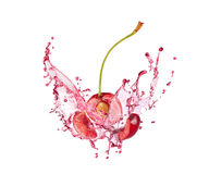 Blast of cherry with juice Stock Photography