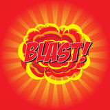 BLAST! comic word Royalty Free Stock Photos