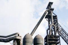 Blast Furnace. Symbol of industry stock photos