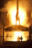 Blast furnace. Blast furnece with a heat of 1500 degrees is on work Stock Images