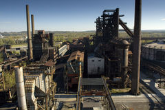 Blast furnace. Town with the mining of minerals steel production in the Czech Republic Stock Images