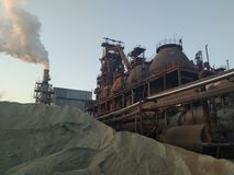 Blast furnace. Danger surroundings pollution royalty free stock photography