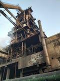 Blast furnace. Steel steam pollution royalty free stock image