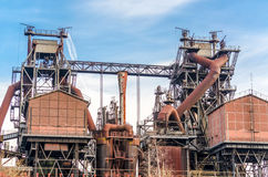 Blast furnace Duisburg Nord Stock Photo