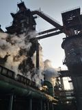 Blast furnace. Factory steel pollution stock photography