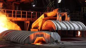 Blast furnace iron output stock video
