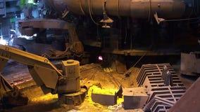 Blast furnace manufacturing process stock footage