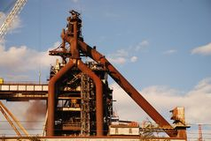 Blast Furnace & Moon stock photo
