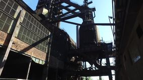 Blast Furnace At Old Metallurgical Plant stock footage