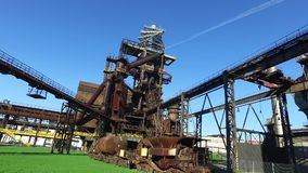 Blast Furnace At Old Metallurgical Plant stock video