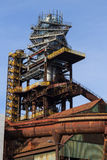 Blast furnace in Ostrava city. Blast furnace No. 1 in Ostrava city stock image