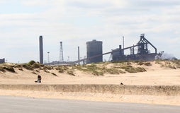 Blast furnace and sand dunes. Stock Photos