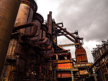 Blast furnace in steel factory Royalty Free Stock Images