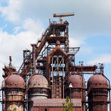 Blast furnace at the steel industry Stock Photo