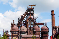 Blast furnace at the steel industry Stock Photography
