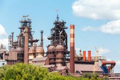 Blast furnace at the steel industry Royalty Free Stock Photo