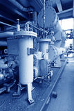 Hydraulic power system in a power plant Royalty Free Stock Photos