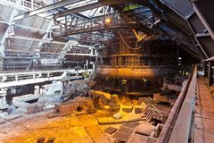 Blast-furnace workshop Royalty Free Stock Images