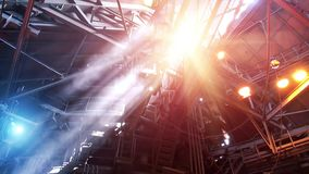 Blast furnace workshop stock footage